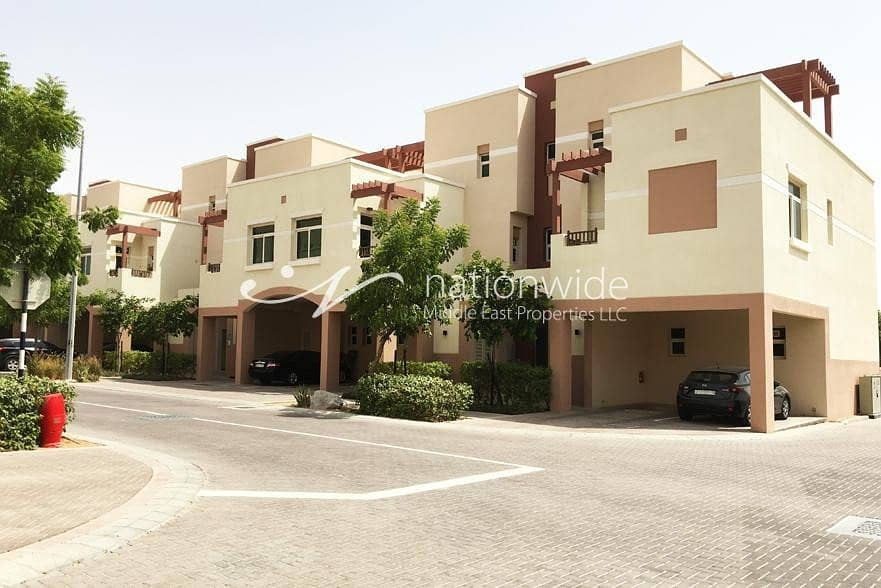 Vacant! Cozy Terraced 2 BR Apartment In Al Ghadeer