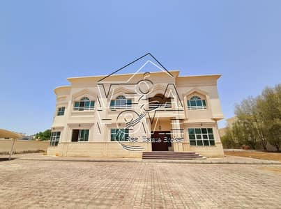 6 Bedroom Villa for Rent in Khalifa City A, Abu Dhabi - STAND ALONE 6-BR VILLA W/POOL/DRIVER ROOM/OUTSIDE KITCHEN