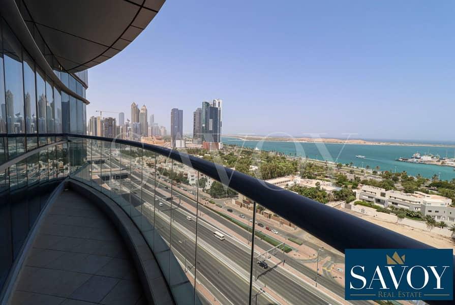 No Commission Fess , Sea View 3BR Flat + Balcony