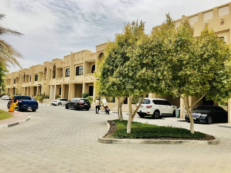 Fabulous Villa in Community Compound | 4 Bedrooms Maid-room Hall Majlis | Swimming Pool Gym | AED 155k