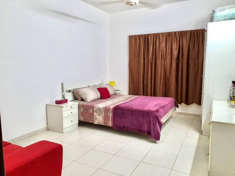 HUGE MASTER BED ROOM FULLY FURNISHED READY TO MOVE IN AL NAHDA SHARJAH FOR FAMILY JUST 1700 AED MONTHLY RENT SEWA SEPARATE