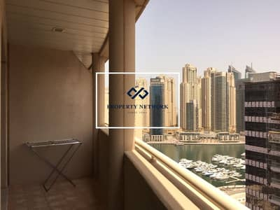 1 Bedroom Flat for Rent in Dubai Marina, Dubai - Semi Furnished I Close to Metro I Partial Canal View