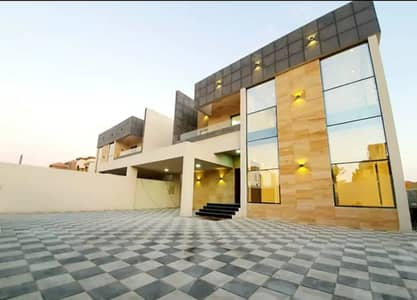 5 Bedroom Villa for Sale in Al Mowaihat, Ajman - For lovers of magnificence design and finishes Super Deluxe European villa modern design for sale at a very special price a large area without down payment and the lowest monthly premium with free ownership for all nationalities