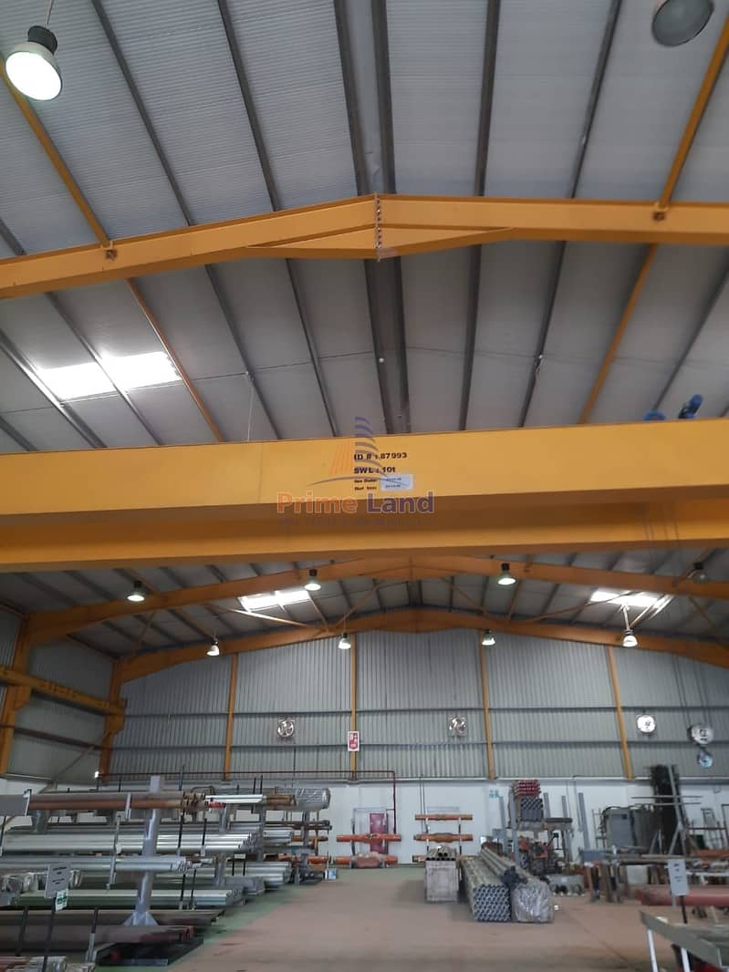 9 1700Sqm With Crane - 200KW Power - 10M Hight