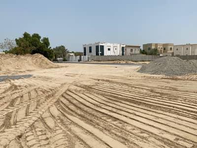 Plot for Sale in Al Jurf, Ajman - Residential land corner on public street