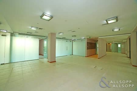 Office for Rent in Old Town, Dubai - Partitioned | Lake Views | 7 Parkings