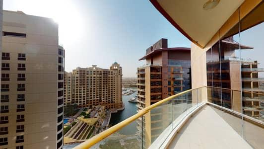 فلیٹ 3 غرف نوم للايجار في نخلة جميرا، دبي - Children's play room   High floor   Partial sea views