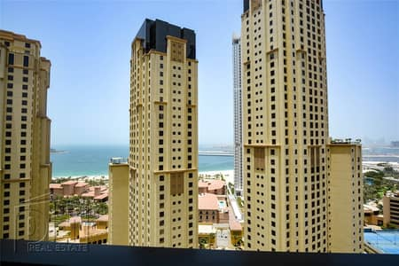 فلیٹ 3 غرف نوم للايجار في جميرا بيتش ريزيدنس، دبي - Partial Sea View | Mid Floor | Available