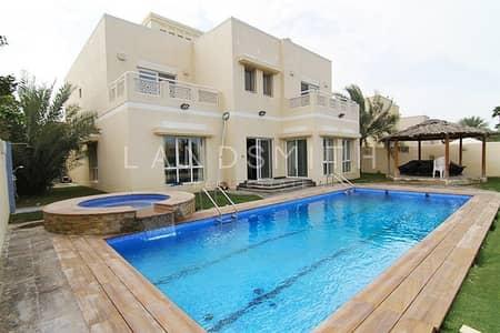 فیلا 6 غرف نوم للايجار في السهول، دبي - Lake View Upgraded 6BR Type 9 Villa with Pool