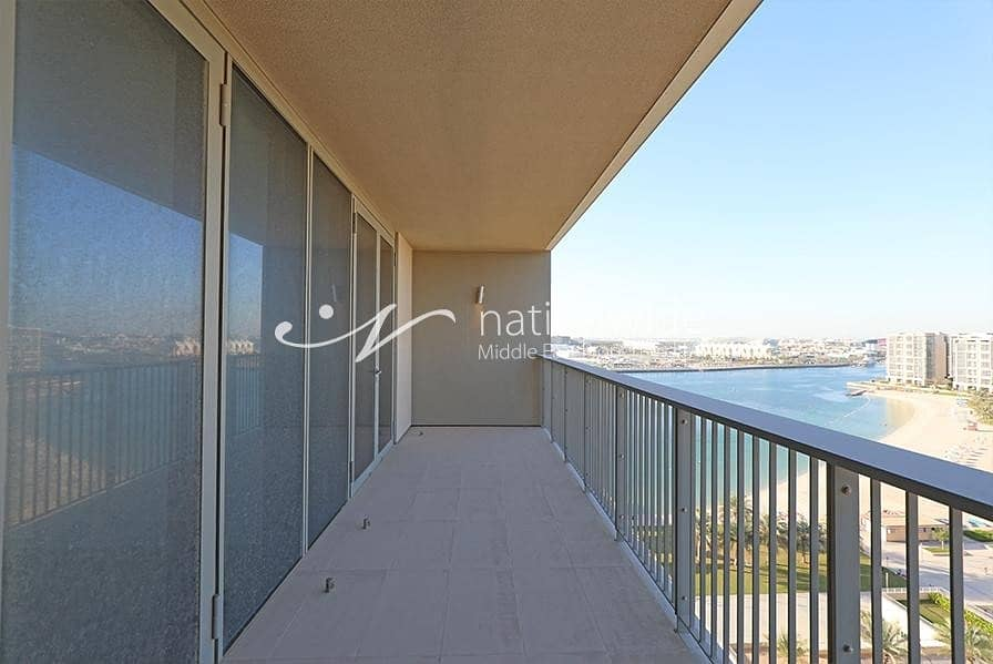 15 Vacant! Full Sea View 2 BR Apartment For 2 Cheques In Al Zein