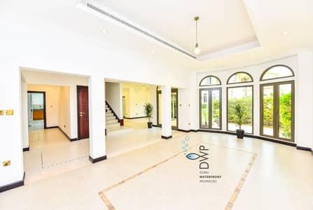 فیلا 3 غرف نوم للايجار في نخلة جميرا، دبي - Exclusive Palm Jumeirah Canal Cove F36 | 3BR Villa + Study + Maids Room | Full 5* Maintenance Package inclusive of rent
