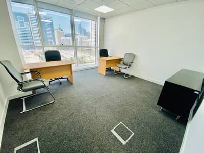 مکتب  للايجار في الدانة، أبوظبي - Cost-Effective High Quality Office Space  Starting at AED 15