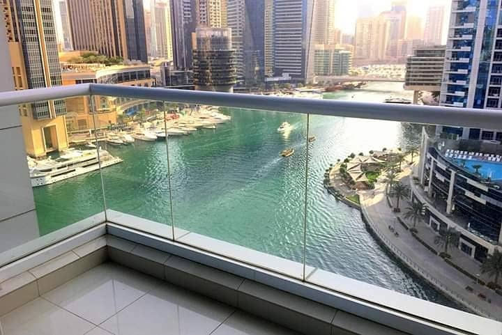 2 Bright  2 Bed room en suits with full Marina view