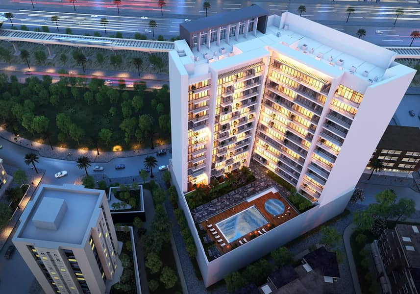 Furnished off plan apartment only 1 minute away from metro station! Direct from owner for best offers!