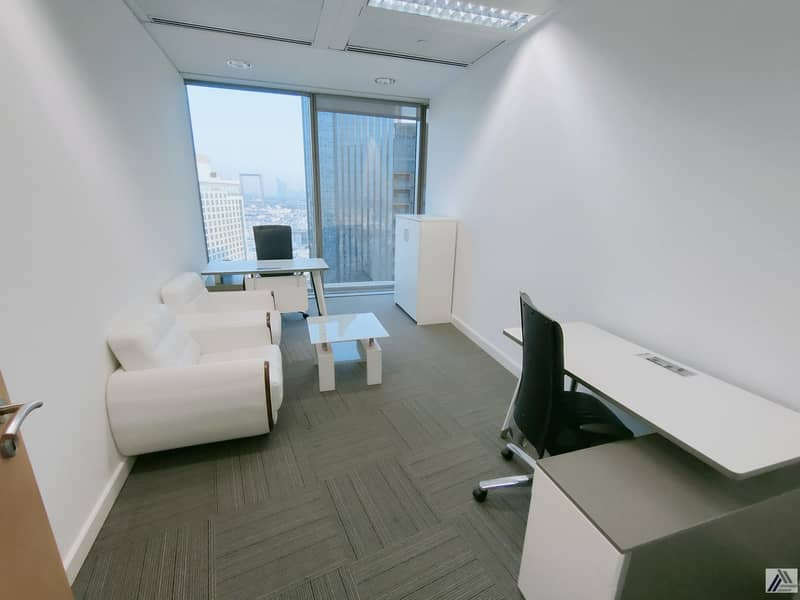 Well Fitted Office In Burjuman Business Center Linked With Metro