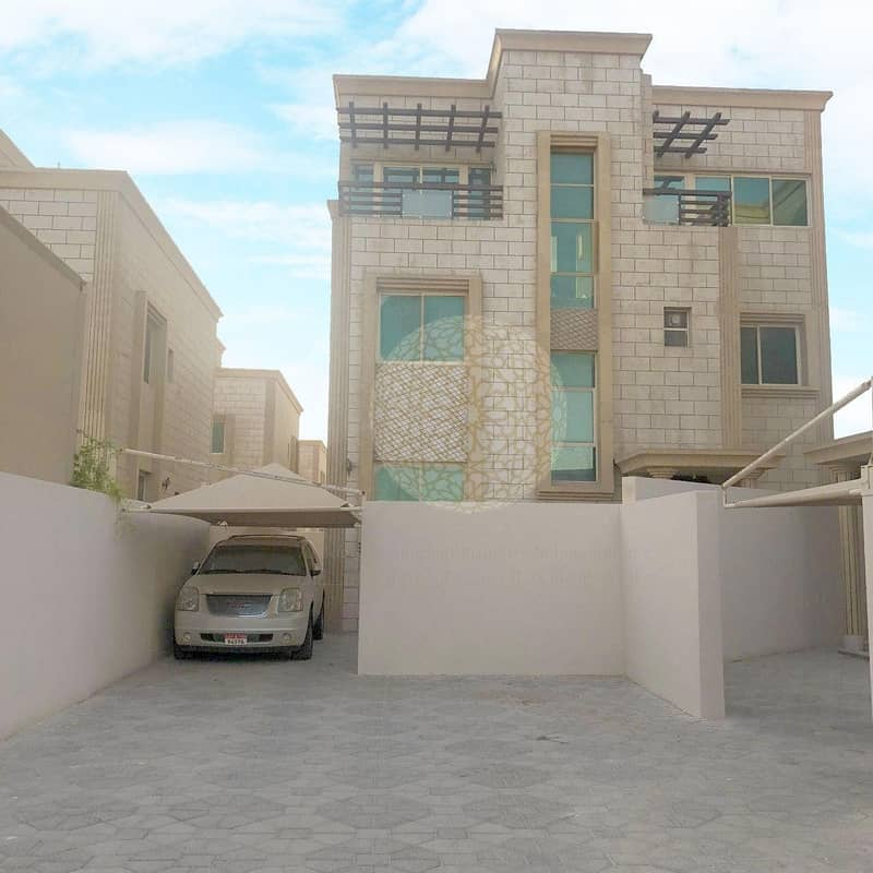 2 CHARMING 6 BEDROOM COMPOUND VILLA(2 villa compounding)WITH MAID ROOM FOR RENT IN SHAKHBOUT CITY