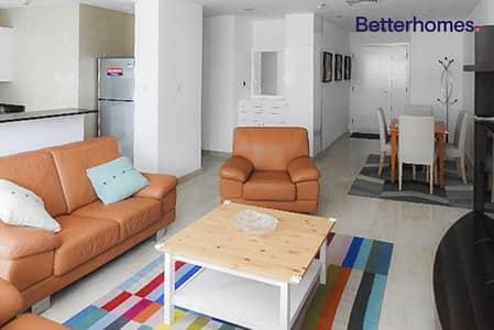 شقة 1 غرفة نوم للايجار في دبي مارينا، دبي - Partial Sea/Marina View Furnished Well Maintained