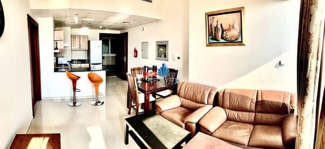 شقة 1 غرفة نوم للايجار في مدينة دبي الرياضية، دبي - 1BHK | مفروشة بالكامل | بناء مرفق كامل