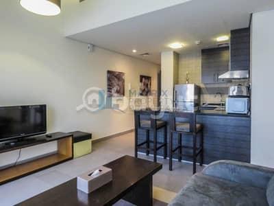 شقة 1 غرفة نوم للايجار في مدينة دبي الرياضية، دبي - Fully  Furnished 1BR in the The Bridge Tower