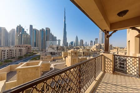 2 Bedroom Flat for Rent in Old Town, Dubai - Unfurnished | Vacant | Burj Khalifa view