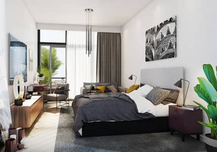 Furnished modern design off plan apartment with stunning views of the swimming pool and garden!