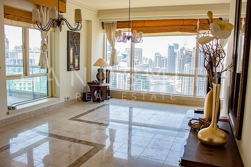 2 Full Marina and Lake View 3BR Apt plus Maid's room