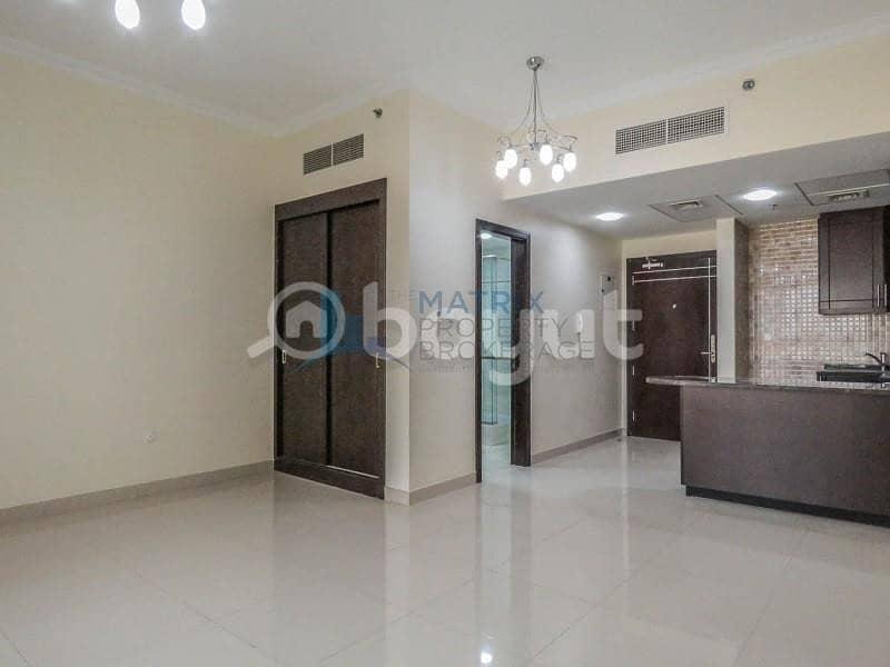 Huge  unfurnished studio for rent in Burj View