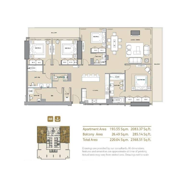 10 4 Bed + Maid | Full Marina View | Vacant