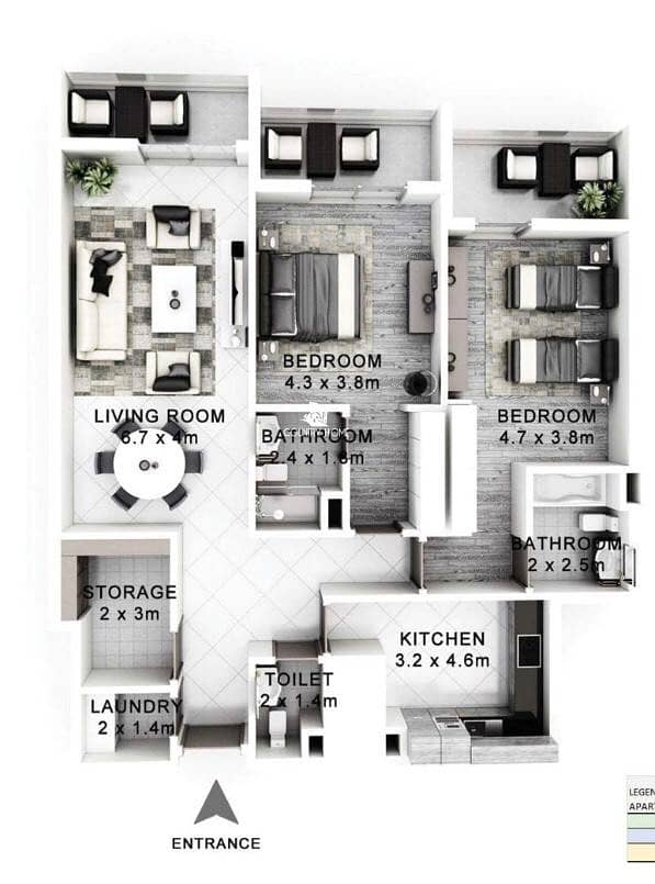10 Beautiful2 BR |Store| 100% finance for UAE national