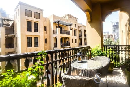 2 Bedroom Apartment for Rent in Old Town, Dubai - Balcony | Two Bedrooms | Community Views