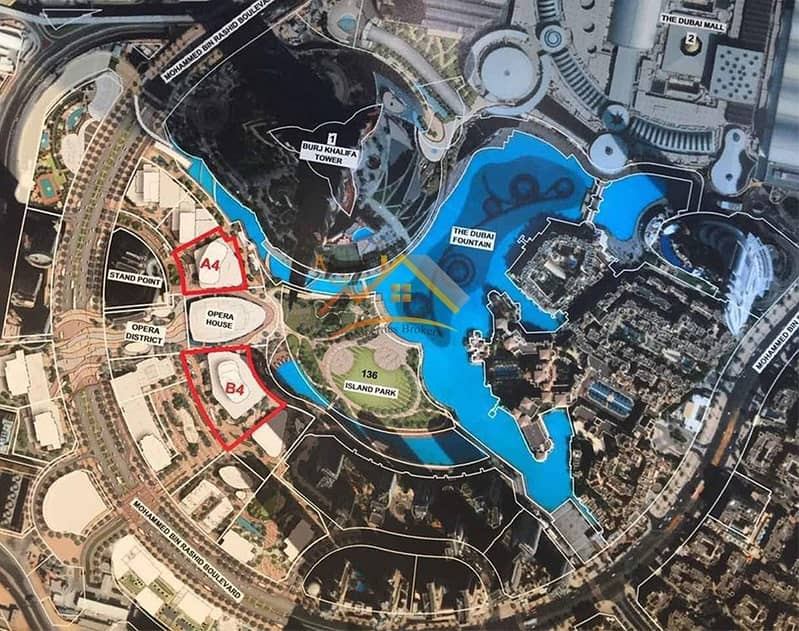 2 NEXT TO THE OPERA FRONTING DUBAI FOUNTAIN PENTHOUSE 4BR AMAZING LOCATION