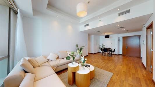 فلیٹ 3 غرف نوم للايجار في دبي مارينا، دبي - High floor & upgraded   Sea views   Chiller free