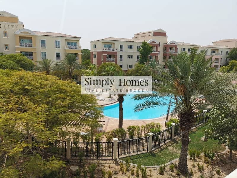 52 One Bed|Fully Furnished|Facing The Pool