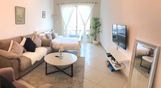 1 Bedroom Flat for Rent in Jumeirah Lake Towers (JLT), Dubai - Fully Furnished 1bhk converted to 2bhk with 2 balconies