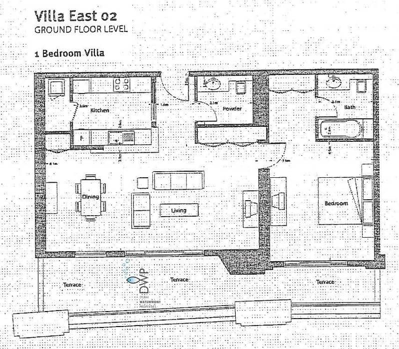 29 Stunning 1BR Villa in Marina Promenade  100% Full Marina Facing  1250 Sq.Ft  UNIT EV02  Full 5* Maintenance Package incl