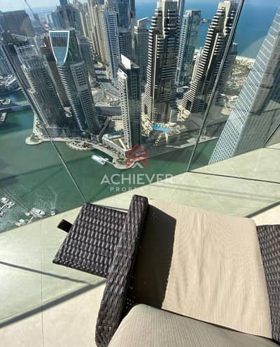 1 Bedroom Flat for Rent in Dubai Marina, Dubai - Full Marina View | High floor | Fully Furnished