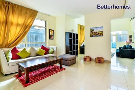 فلیٹ 3 غرف نوم للايجار في دبي مارينا، دبي - Duplex | Furnished | Partial Marina View