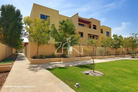 4 Bedroom Townhouse for Sale in Al Raha Gardens, Abu Dhabi - Very Spacious 4 BR Townhouse Type A in Excellent Location