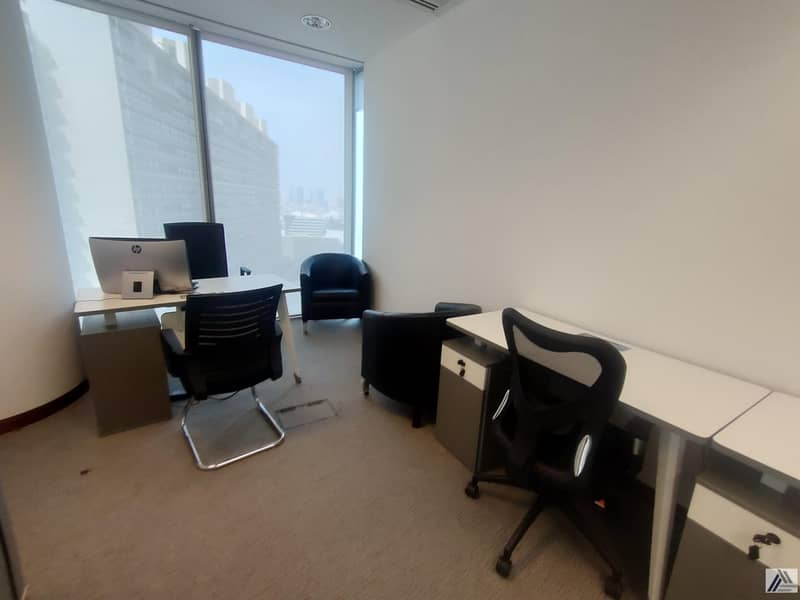 2 Office available with easy payment mode! 3000AED monthly!