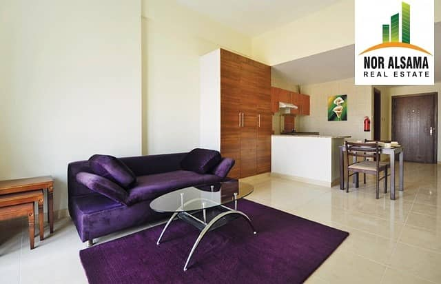 2 Exclusive Deal!! Chiller free!!Studio with balcony for Rent!!23 by 4 chqs!!Dubai Residence Complex