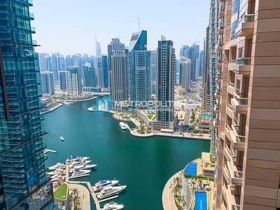 3 Bedroom Flat for Sale in Dubai Marina, Dubai - Rare Large Layout Marina View High Floor Vacant