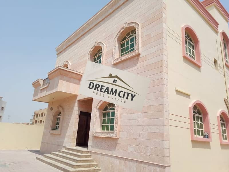 Villa for rent in Ajman, on a street of 6400 feet, with maintenance and air conditioning