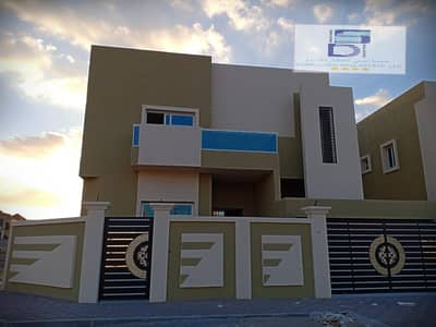 5 Bedroom Villa for Sale in Al Mowaihat, Ajman - For sale a two-street corner, super deluxe finishing, a very special location, without downpayments