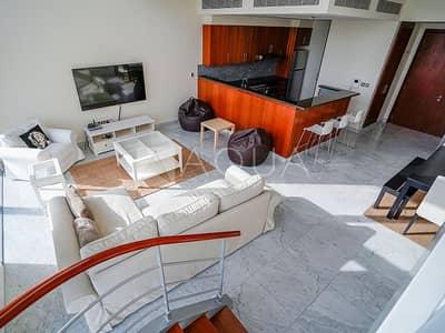 فلیٹ 2 غرفة نوم للايجار في مركز دبي المالي العالمي، دبي - Fully Furnished I High Floor I 2 BHK Duplex