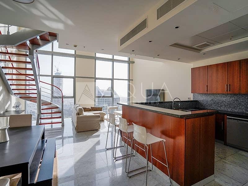 2 Fully Furnished I High Floor I 2 BHK Duplex