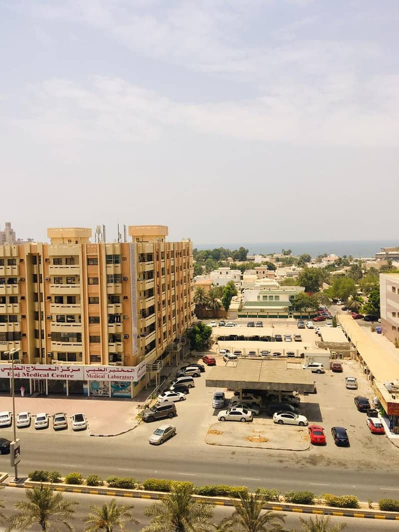 Full sea view 1 bhk with parking and closed kitchen in Ajman one tower