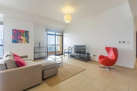 شقة 2 غرفة نوم للبيع في جميرا بيتش ريزيدنس، دبي - Lovely apartment on a high floor with Marina view