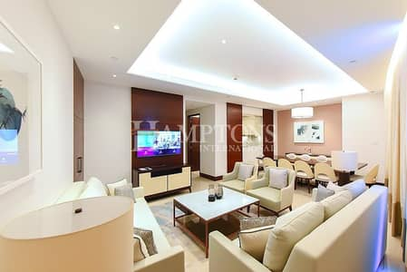 4 Bedroom Apartment for Rent in Downtown Dubai, Dubai - High Floor   4 BR with Amazing Burj View