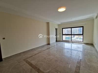 فلیٹ 2 غرفة نوم للايجار في نخلة جميرا، دبي - Corner apartment with Marina View