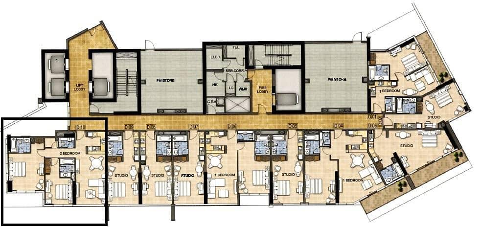 9 2 Bedroom | Low Floor | Golf Course View